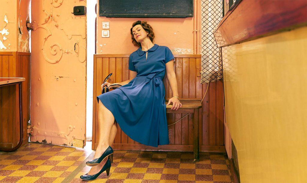 Robe MoonRiver bleu petrole