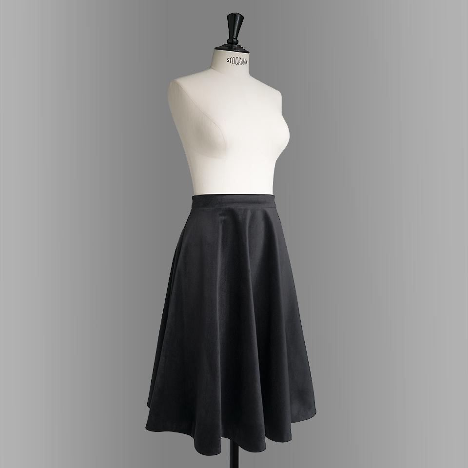 danube skirt black medium length