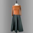 danube skirt green long length