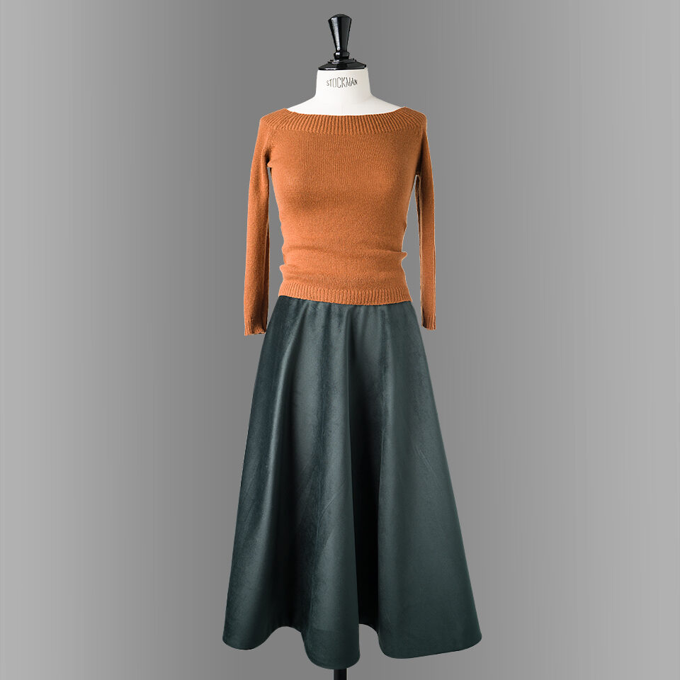 danube skirt green long length