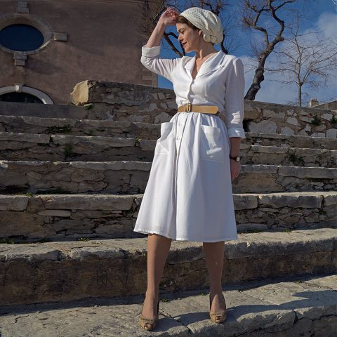 ELBE shirtwaist dress Ivory