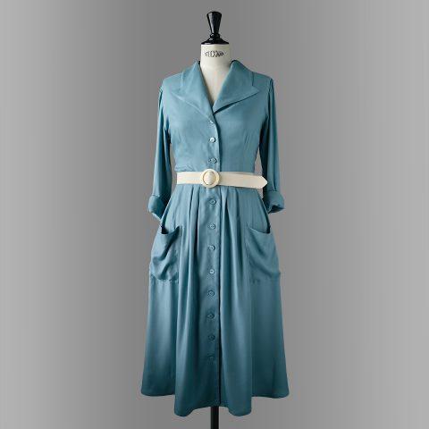 ELBE shirtwaist dress peacock and storm