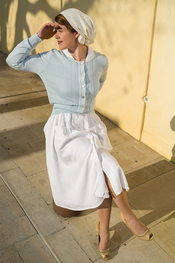 Shirtwaist dress and Cardigan