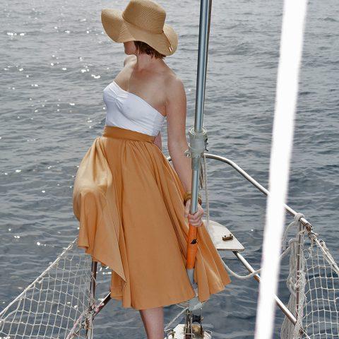"""50s style high waisted midi skirt """"Mia"""""""