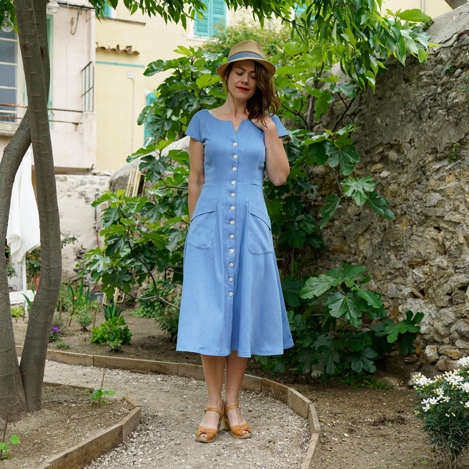 1950s fit and flare dress