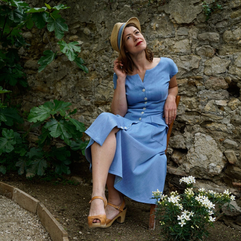 """1950s fit and flare dress """"Oleson"""""""