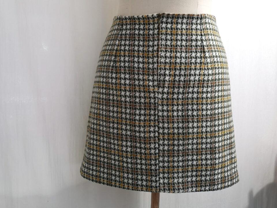 60s skirt back view