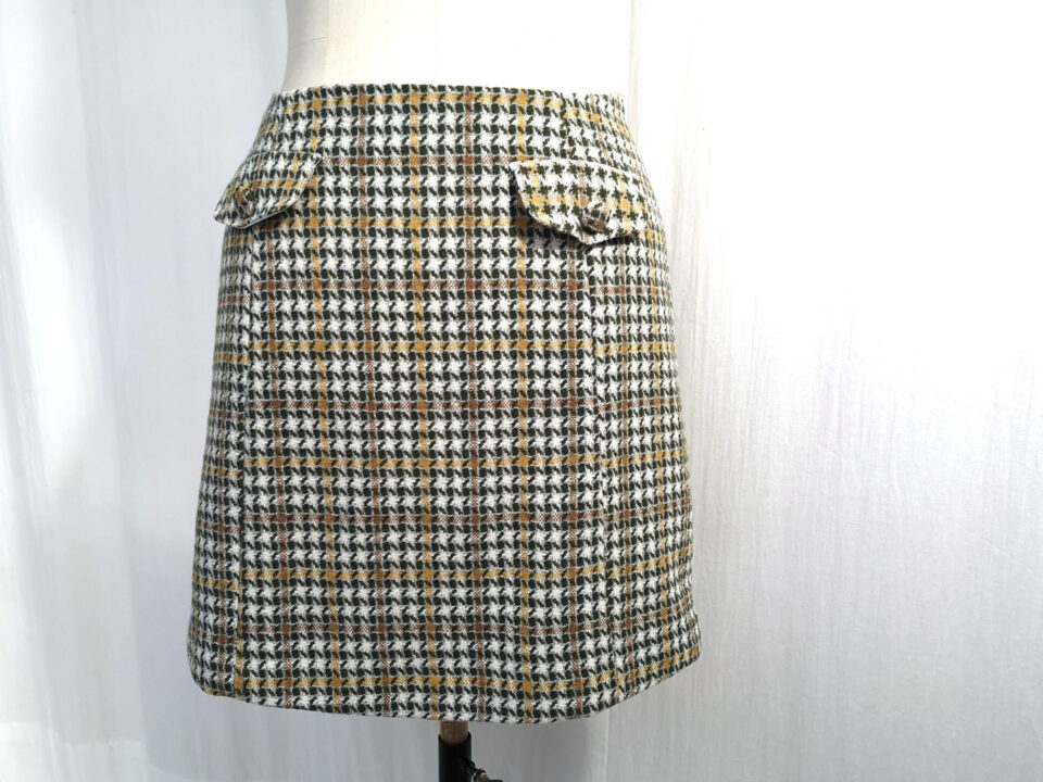 60s skirt front view